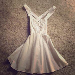 Crisp White size 4 Victoria's Secret Sundress